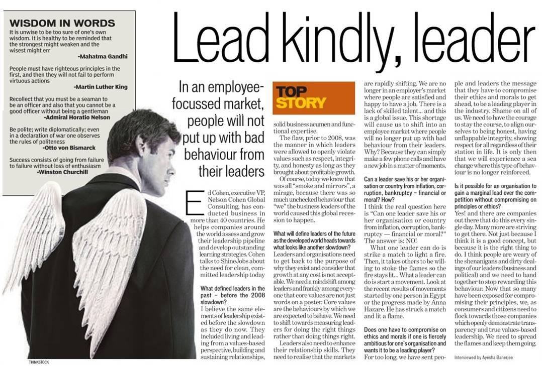 Lead Kindly, Leader